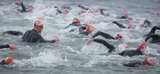 Contestants grapple with the elements at the COPE Galway Triathlon Ocean Race 2011.