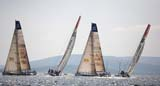 In-Port racing on Saturday,30th May, Volvo Ocean Race, Galway. Telfonica and Ericsson seam to tango