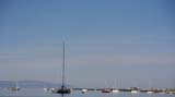 Mediterranean weather creates unusual senes in Galway Bay.