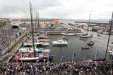 Closing ceremony The Volvo Ocean Race Galway. Green Dragon leaves port for the last time.